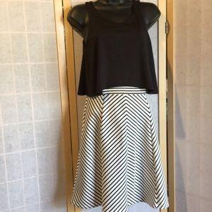Striped fancy girls dress Size 16